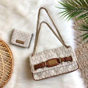 Michael Kors Bag and Wallet Leather Hamilton Set